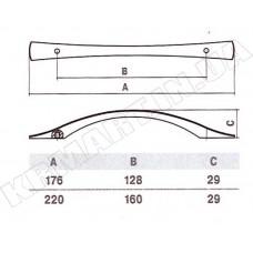 Ручка D-1004-160 CP для мебели полированный хром