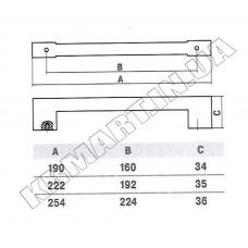 Ручка D-1005-192 MOC для мебели матовый старый хром