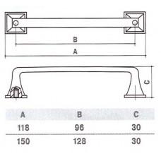 Ручка D-1007-128 MAB для мебели матовая античная бронза