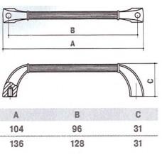 Ручка D-1007-96 MAB для мебели матовая античная бронза