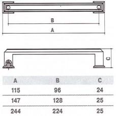 Ручка D-1010-128 MBAB для мебели матовая темная античная бронза