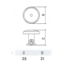Ручка D-1016-37 CP для мебели полированный хром