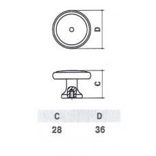 D-1029-37 MAB Ручка для мебели матовая античная бронза