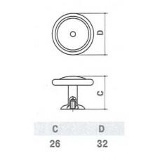 D-1031-33 MAN Ручка для мебели матовый античный никель