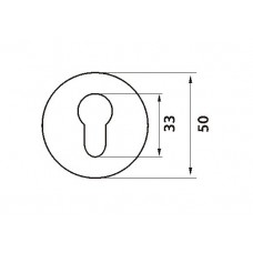 E5 SN / CP накладка под цилиндр мат.никель / пол.хром
