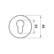 E5 PB / SB накладка под цилиндр пол.латунь / матовая латунь