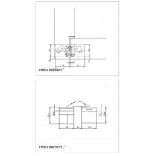 AN 140 3D Петля для дверей, матовый хром