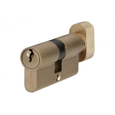 P6E30 / 30T SB цилиндр англ.ключ / тумблер мат. латунь - p6e30-30t-sb