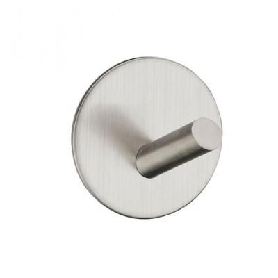 Крючок HSS-504R SS клейкий, из нержавеющей стали матовый - 70841240
