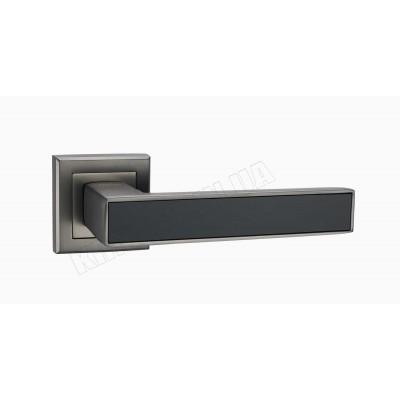 A-2015 MA ручка для дверей на розетке матовый антрацит с черной вставкой - a-2015_mа-black