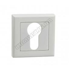 E8a WHITE накладка на замок под цилиндр, белая
