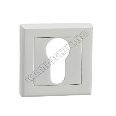 E8a WHITE накладка на замок под цилиндр, белая - e8a-white