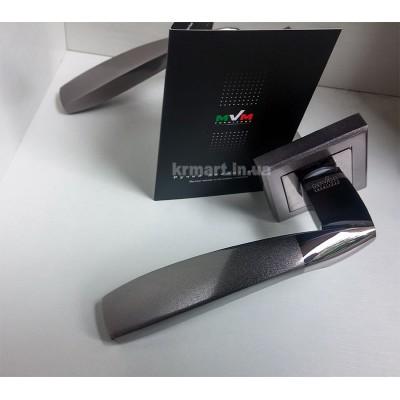 Z-1325 BN/SBN ручка для дверей на розетке черный никель/матовый - z-1325-bnsbn