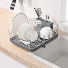 Сушка для посуды с органайзером DR-02 серая