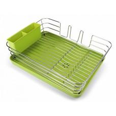 Сушка для посуды с органайзером DR-02 зеленый
