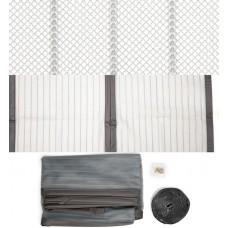 Москитная сетка для балконных дверей на магнитах 720 * 2200, цвет титан