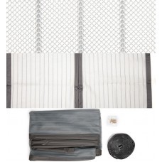 Москитная сетка для входных дверей на магнитах 920 * 2000, цвет титан