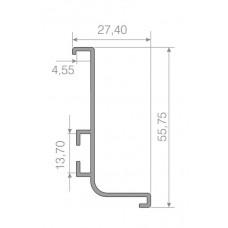 6183 (ручка-профиль L-обр. ANX(анадированное покрытие цвет шампань)длина планки 3м
