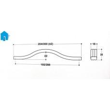 Мебельная ручка System 8153 192CR