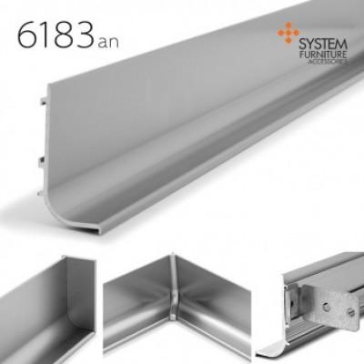 6183 (ручка-профиль L-обр. AN (анадированное покрытие цвет алюминий) длина планки 3 м - 6183-an