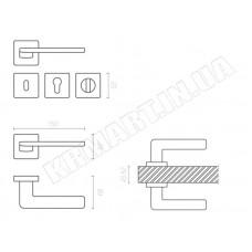 Дверная ручка GIADA ha110ro11_cbm System