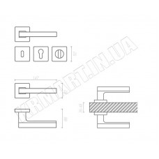 Дверная ручка AZUR HA 104RO11 CR-CR/AL12 moco