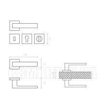 Дверная ручка FOSIL ha124ro11_bbn System