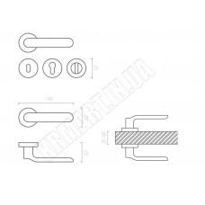 Дверная ручка OPAL HA115RO12 NB