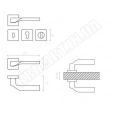Дверная ручка SPINAL ha120ro11_cbm System
