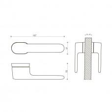 Дверная ручка AKIK 202 RO 16 CBMX