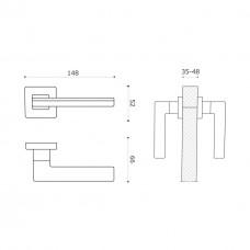 Дверная ручка LARISSA 100 RO11 CBM-AL7/CBM