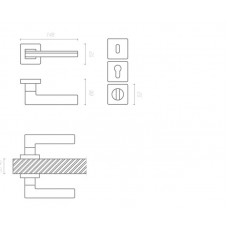 Ручка LARISSA 100 RO11 CR-CR/AL7