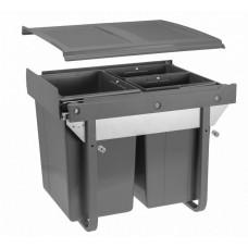 Сегрегатор GTV для кухонных шкафов 400 мм 20 + 2х10 л Графит