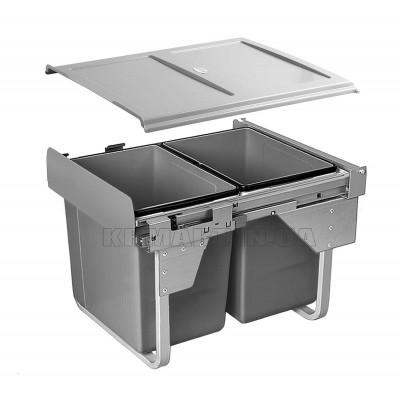 сегрегатор для кухонных шкафов высокий 450 мм 2 х 20 л - PB-002X20-60MB