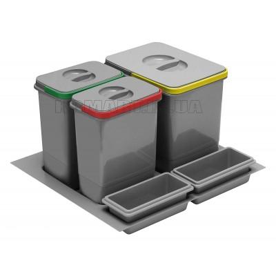 сегрегатор multino 600 мм 1 x 15 л 2 x 7 л 2 емкости - pb-91114100b5