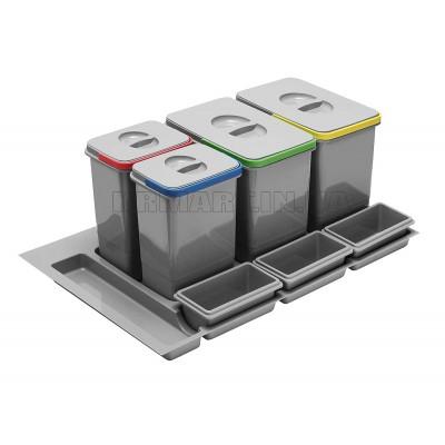 сегрегатор multino 900 мм 3 x 15 л + 3 емкости - pb-91164100b5