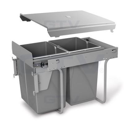 сегрегатор для кухонных шкафов 400 мм 2 х 20 л с креплением - pb-45m002s20