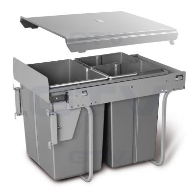сегрегатор для кухонных шкафов 400 мм 20 + 2х10 л с креплением - pb-45m202s10