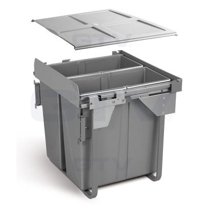 сегрегатор для кухонных шкафов 600 мм 2 х 34 л с креплением - PB-0M2X34-60MB