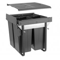 Сегрегатор GTV для кухонных шкафов 600 мм 34 + 2х17л с креплением Графит