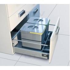 сегрегатор multino 600 мм 1 x 15 л 2 x 7 л 2 емкости