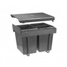 Сегрегатор GTV для кухонных шкафов высокий 450 мм 20 + 2х10 л без крепления Графит