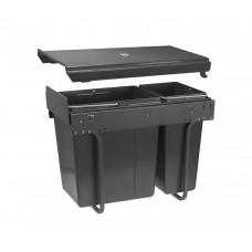 Сегрегатор GTV для кухонных шкафов 300 мм 20 + 10л Графит