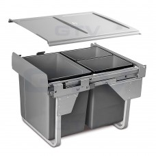 сегрегатор для кухонных шкафов высокий 450 мм 20 + 2х10 л без крепления