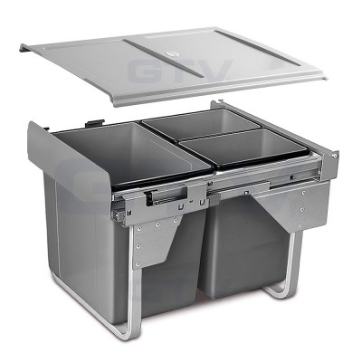 сегрегатор для кухонных шкафов высокий 450 мм 20 + 2х10 л без крепления - PB-0202X1060MB