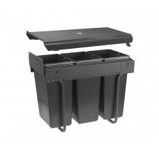 Сегрегатор GTV для кухонных шкафов 300 мм 3х10л Графит