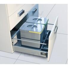 сегрегатор multino 900 мм 2 x 15 л + 2 x 7 л + 3 емкости