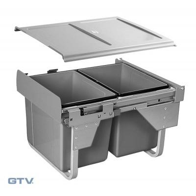 Сегрегатор для кухонных шкафов низкий 450 мм 2 х 15 л - PB-002X15-60MB