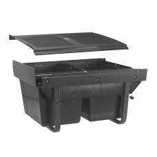 Сегрегатор GTV для кухонных шкафов низкий 450 мм 2х15л с креплением Графит
