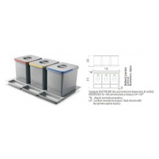 сегрегатор multino 800 мм 3 x 15 л
